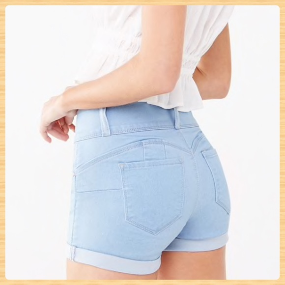 Forever 21 Pants - New Cuffed Push-Up Denim Shorts